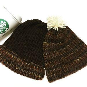 Handmade Crochet Winter Pom Beanies